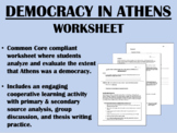 Democracy in Athens worksheet