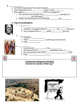 Classical Greece Athenian Golden Age Guided Lecture Notes