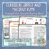 Classical Greece and Ancient Rome Vocabulary Unit
