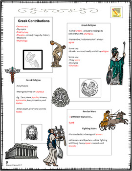 Classical Greece and Ancient Rome Interactive Notebook Bundle Complete Unit