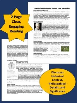 Classical Greek Philosophers: Socrates, Plato, Aristotle