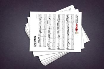 Classical Guitar Sheet Music: Andantino (Isaías Sávio)