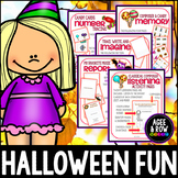 HALLOWEEN ACTIVITIES - October Party Bundle, Classical Music, Memory, Writing