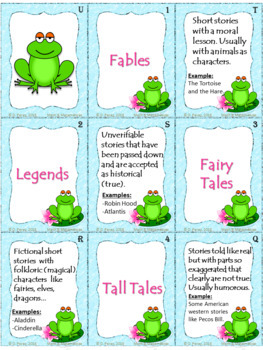 Classic Literature Vocabulary- Matching Game P