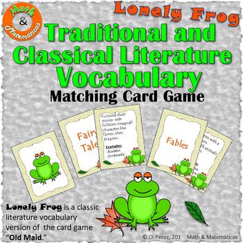 Classic Literature Vocabulary- Matching Game F