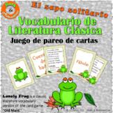Classical Literature Vocabulary Game-Vocabulario de literatura clásica-Spanish F