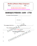 Classical Music Periods - Digital Booklet