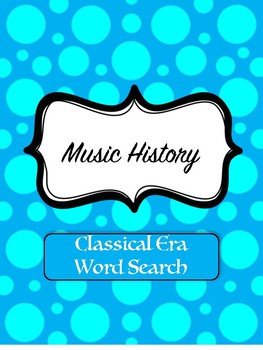 Classical Music Word Search