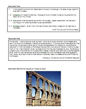 Classical Rome DBQ for World History