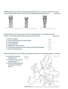 Classical Rome & Greece Basic Test