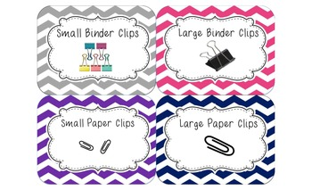 Classically Chevron!  (Labels for an effectively organized classroom)