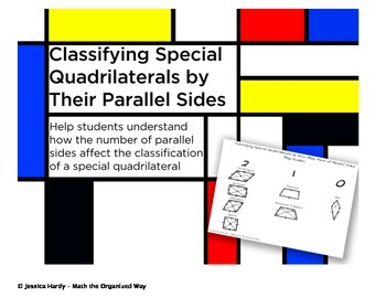 Quadrilaterals and the Number of Parallel Sides - Graphics Organizer