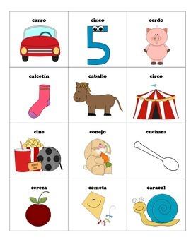 Classificando palabras con la letra C