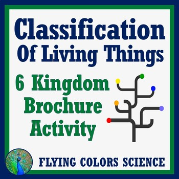 Classification of Living Things Activity - 6 Kingdoms Brochure, Middle School