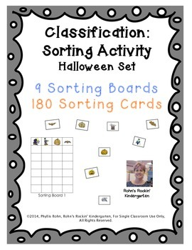 Classification: A Sorting Activity - Halloween Theme