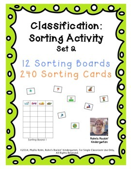 Classification: A Sorting Activity - Set 2