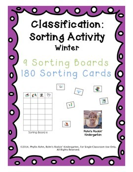 Classification: A Sorting Activity - Winter Theme