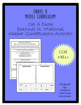 Classification Activity for Rational & Irrational Numbers