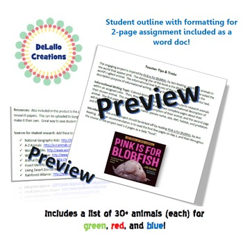 Classification Animal Research Project