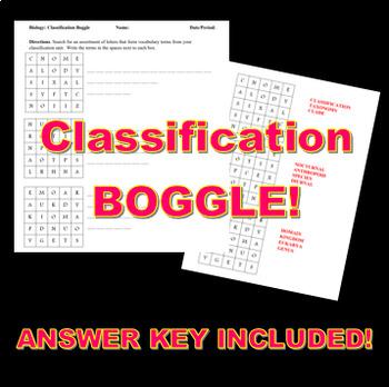 Classification BOGGLE!