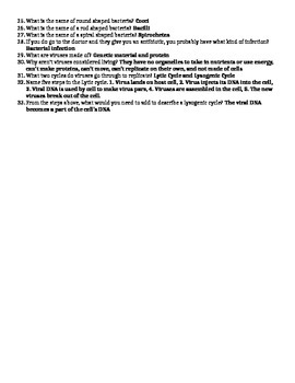 Classification, Bacteria, and Virus Study Guide