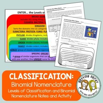 Binomial Nomenclature Notes & Activity