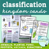 Classification- Kingdoms Study Cards