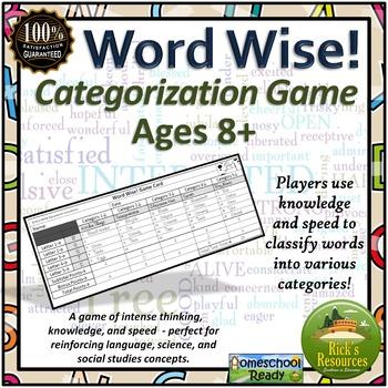 Categorizing Words Game