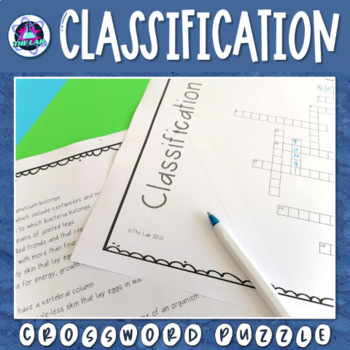 Classification & Characteristics of Life Crossword Puzzle