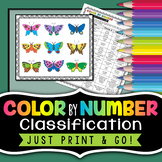 Classification Color by Number - Science Color By Number