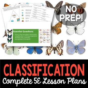 Classification Complete 5E Lesson Plan