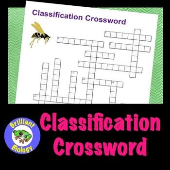 Classification Crossword Puzzle