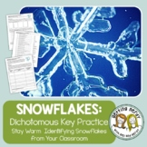 Christmas Science a Winter Snowflake Dichotomous Key - Hol