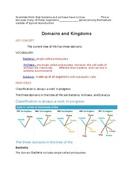 Classification Domains and Kingdoms