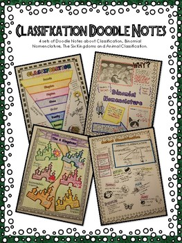 Classification Doodle Notes - Binomial Nomenclature, Kingdoms, and More!