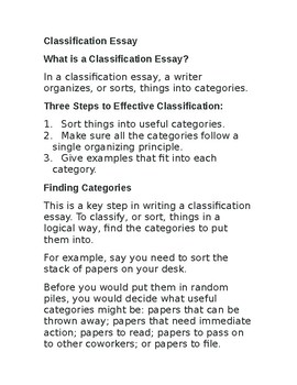 Classification essay by lingua franca systems teachers pay teachers