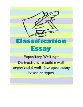 classification essay instruction with prewriting activities - What Is A Classification Essay