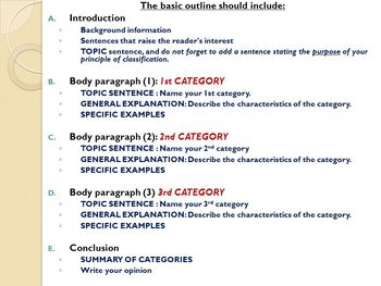 Classification essay topics