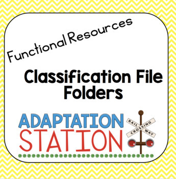 Classification File Folder Games-VAAP Resource