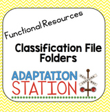 Classification File Folder Games-VAAP Resource
