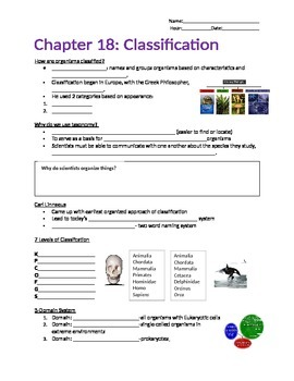 Classification Guided Notes