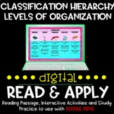 Classification Hierarchy Organization Read & Apply DIGITAL