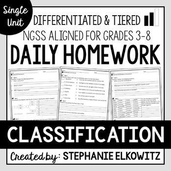Classification Homework