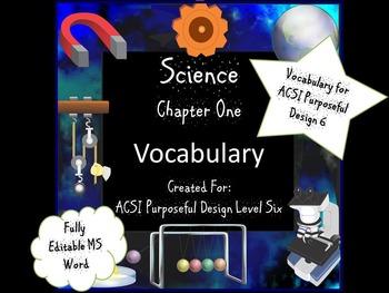 Classification I Vocabulary for Purposeful Design Level Six