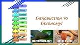 Classification- Intro to Taxonomy Presentation EDITABLE