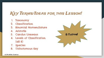 Classification: Intro to Taxonomy Presentation EDITABLE