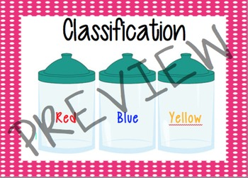 Classification Math Cards
