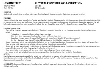 Classification - Physical Properties