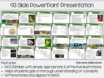 Classification PowerPoint, Notes & Exam (Differentiated and Editable)