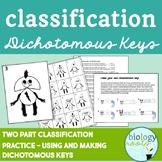 Classification- Dichotomous Keys